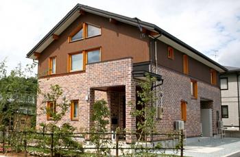 レンガ外壁の超かっこいいログハウス風住宅.png